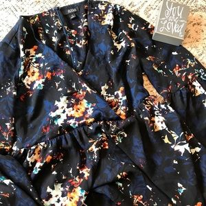 A.N.A (A New Approach) Floral Bell Sleeve Top